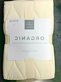 100 percent organic cotton ogee ivory std