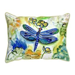 Betsy Drake 11 x 14 Inches Dragonfly Garden Small Pillow Hom