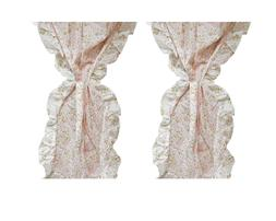 2pc Pink Roses Short Canopy Curtains - Flowers Floral Girls
