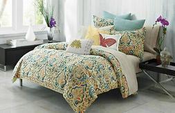 UNDER THE CANOPY $300 Queen Comforter Set 4PCS BATIK MEDALLI