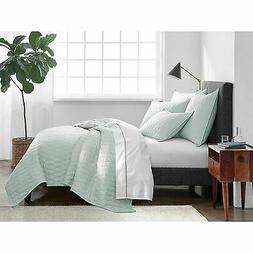 Under The Canopy 300-TC Ogee Satin Weave Quilt -Spa Blue -Si