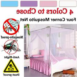 4 Corner Bed Canopy Mosquito Net Full/Queen Small King Size