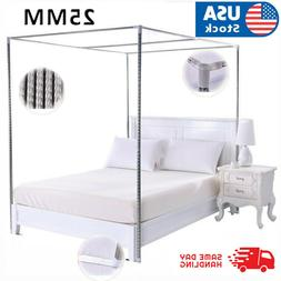 4 Corner Bed Canopy Stainless Steel Frame Post Bracket Mosqu