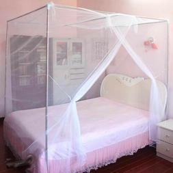 4 Corner Cover Bed Canopy Mosquito Net Full Queen Small King
