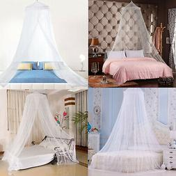 4 Corner Elegant Lace Post Bed Canopy Mosquito Net Full Quee