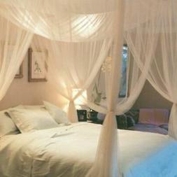 4 Corner Post Bed Canopy Full Queen King Size Bedroom Mosqui