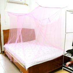 4 Corner Post Bed Canopy Mosquito Net Full to King Size Nett