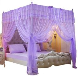 Mengersi 4 Corner Post Bed Curtain Canopy Net for Girls Bed