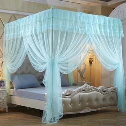 Mengersi 4 Corner Poster Princess Bedding Curtain Canopy Net