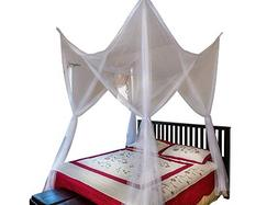 Octorose ® 4 Poster Bed Canopy Netting Functional Mosquit