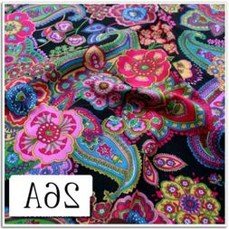 50*50CM Fasion Flower 100%cotton fabric Quilting Clothes Bed