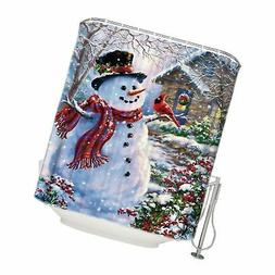 CHARMHOME 72x72 Inch Winter Holiday Merry Christmas Happy Sn