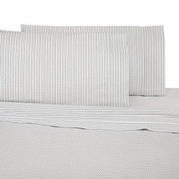 UNDER THE CANOPY Brushed Cotton Percale Nori White Navy QUEE