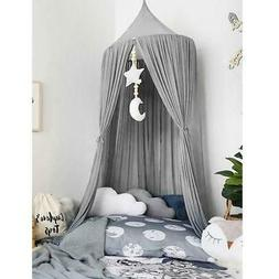 Baby Bed Canopy Round Dome Mosquito Net Kids Bedroom Hanging