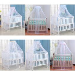Baby <font><b>Bed</b></font> Mosquito Net Cover with Lace Fo