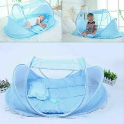 Baby Infant Portable Foldable Travel Bed Crib Canopy Mosquit