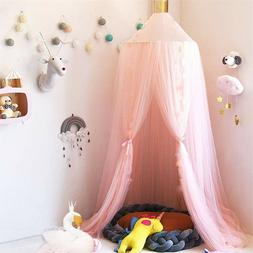 Bed Canopy-Faayfian Princess Baby Dome Bed Canopy Mesh Gauze