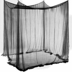 Bed Canopy Mosquito Net 4 Corner for Full Queen King Size Ne