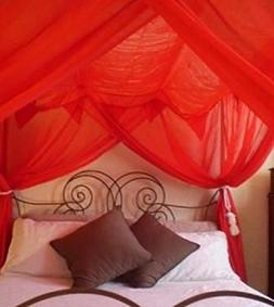 Bed Canopy Netting Romantic 4 Poster Functional Mosquito Net