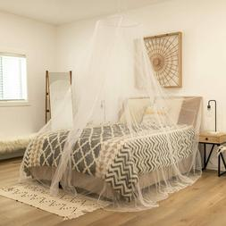 Bed Mosquito Netting Mesh Elegant Lace Canopy Princess Round
