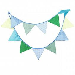 - INFEI 3.2M/10.5Ft Vintage Floral Fabric Flags Bunting Ban