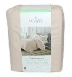 UNDER THE CANOPY Blush Pink Brushed 3P KING DUVET COVER SET