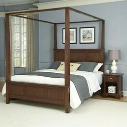 Home Styles Chesapeake King Canopy Bed and Night Stand