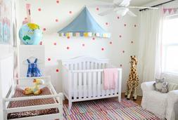 IKEA CHILD'S MYSIG BED TENT CANOPY TOY BLUE UNISEX CRIB CIRC