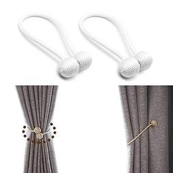 JQWUPUP Curtain Tiebacks Magnetic - Convenient Decorative Dr