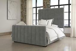 DHP Dante Upholstered Bed with Luxurious Velvet Design, Mult