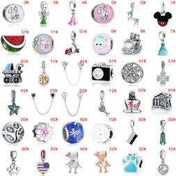 European Silver Beads Pendant Fit dangle Charms 925 sterling
