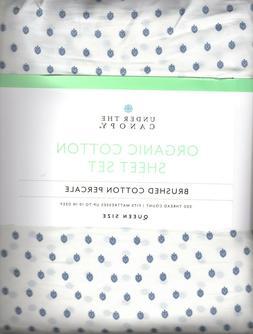 Under The Canopy Fiori Queen Sheet Set 4pc 100% Organic Cott