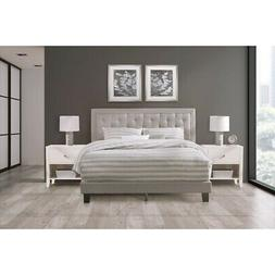 Hillsdale Furniture La Croix Full Bed, Glacier Gray Fabric -