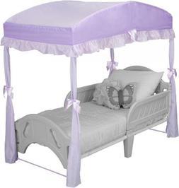 Delta Children Girls Canopy for Toddler Bed, Purple