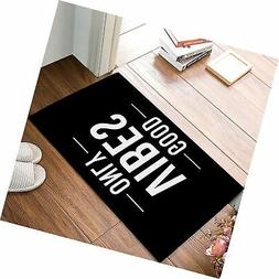 CHARMHOME Good Vibes Only Welcome Indoor Doormat Entrance Fl