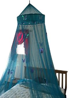 OctoRose hoop with butterfly bed canopy mosquito net fit all