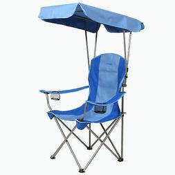 Kamp-Rite Camping Beach Patio Sports Folding Chair w/ Shade