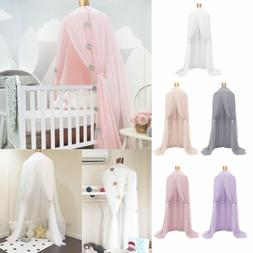 Kids Baby Bed Cotton Canopy Bedcover Mosquito Net Curtain Be