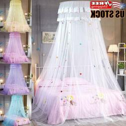 Kids Girls Bed Canopy Mosquito Net Bedcover Curtain Dome Ten