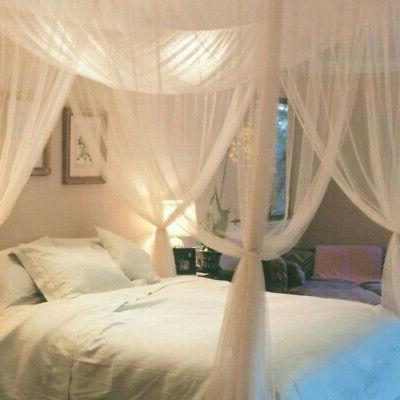 2pcs European Style Corner Bed Canopy Curtain Bedding