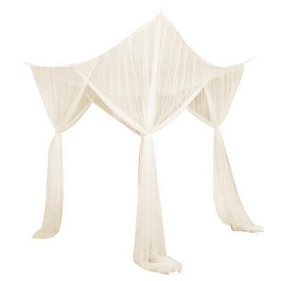 2pcs European Corner Post Curtain Mosquito Net Bedding