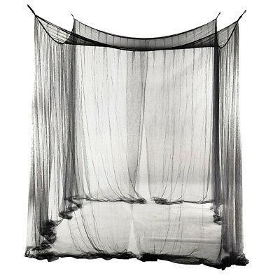 2pcs Style Corner Canopy Curtain