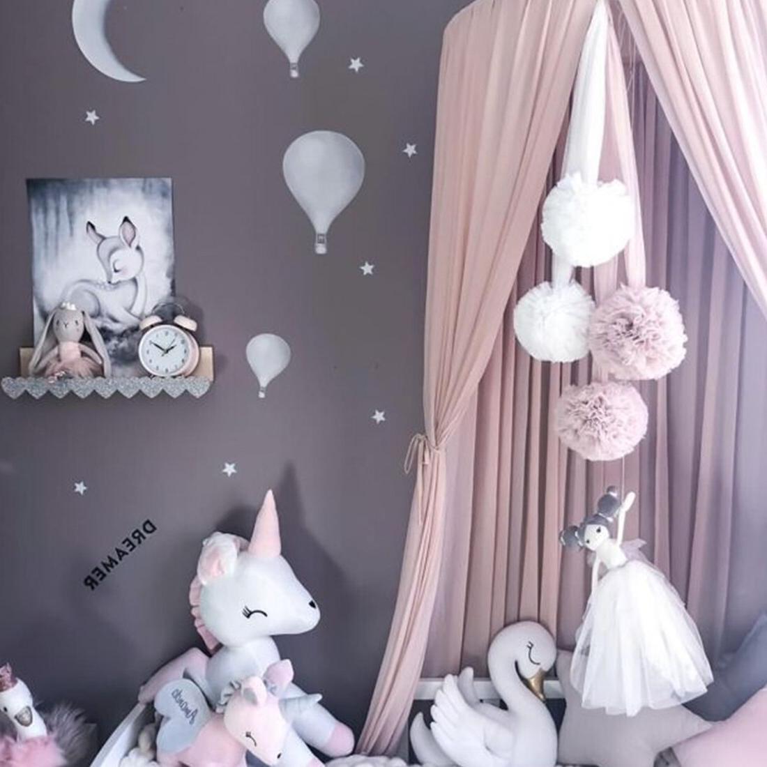 4 Colors Girls Princess <font><b>Canopy</b></font> Valance Decoration Baby <font><b>Bed</b></font> Net <font><b>Bed</b></font> <font><b>Canopy</b></font>