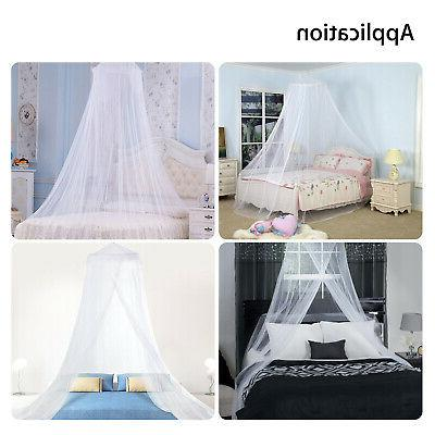 4 Elegant Post Bed Canopy Mosquito Net Full King Size Bedding