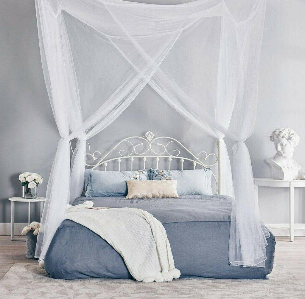 4 Corner Mosquito Post Curtain for