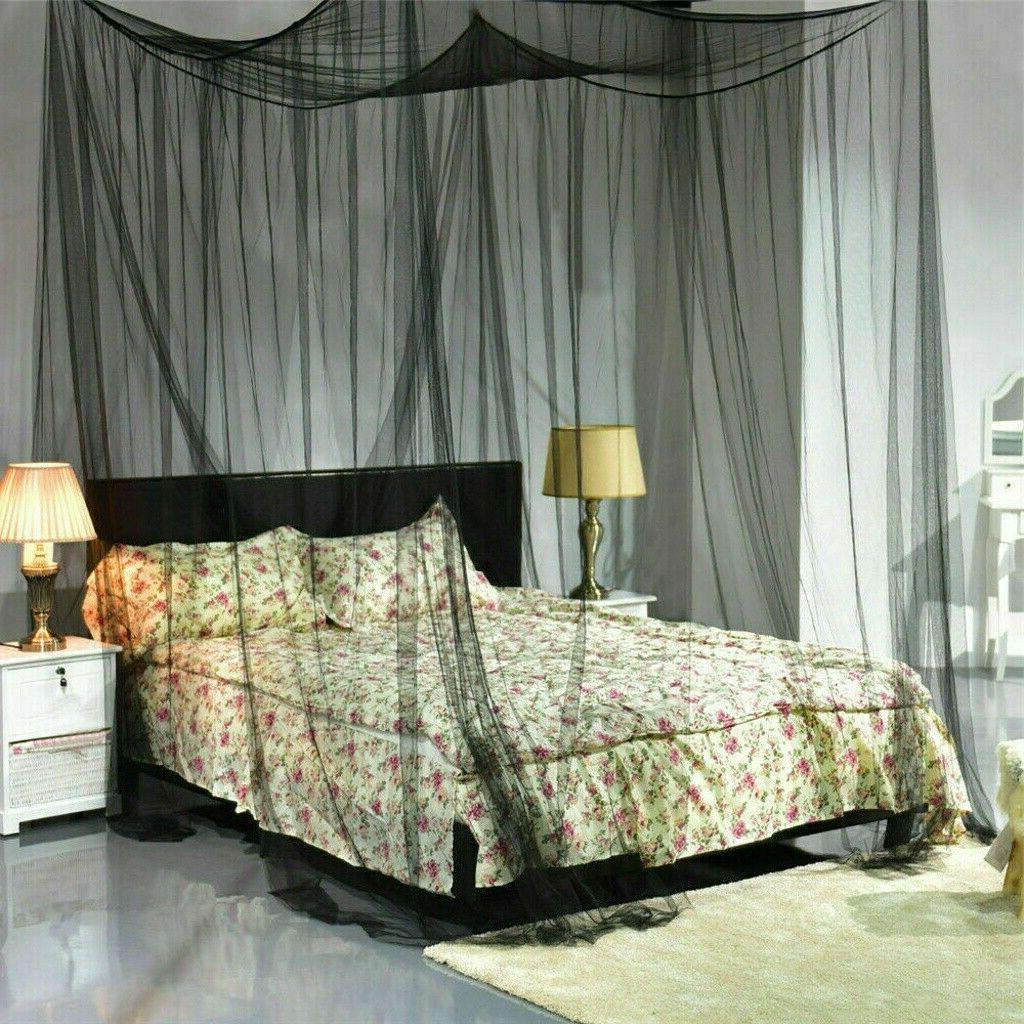 4 corner mosquito net post bed canopy