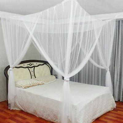 4 Post Canopy Full Size Bedroom Mesh Curtain