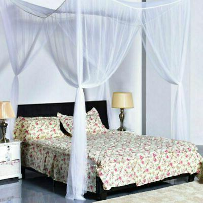 4 Corner Post Bed Canopy Size Mosquito Net Mesh