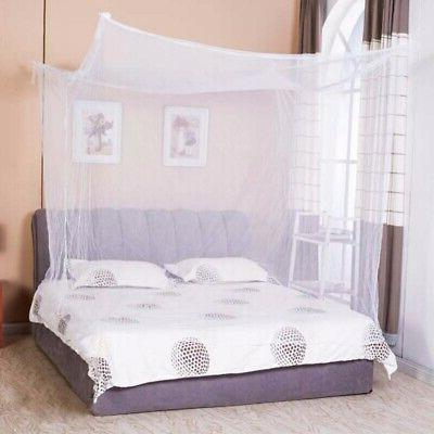 4 Corner Princess Bed Canopy Bedcover Mosquito Net Curtain B