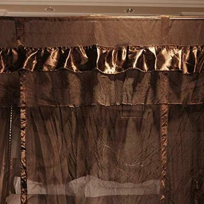 4 Corners Post Bed Curtain Canopy for
